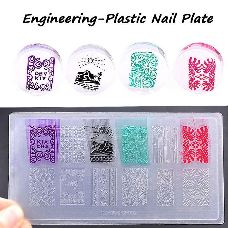 2016 New Environmental Engineering-plastic Nail Art Stamping Plate DIY Nail Polish Design Printing Template Manicure Tools