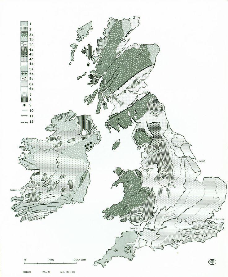 1970 Carte Géologique des îles britanniques Angleterre Grande Bretagne Géomorphologie de la boutique sofrenchvintage sur Etsy