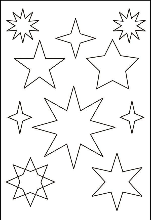 Sternen Vorlage Star Template Christmas Crafts Christmas Tem