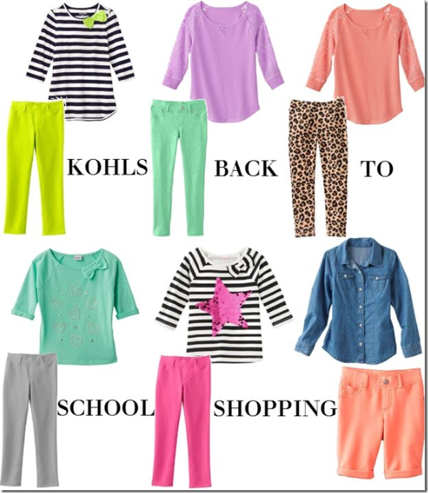 Back to school shopping with Kohls for my Toddler starting Kindergarten this year! Love the outfits we got her :)