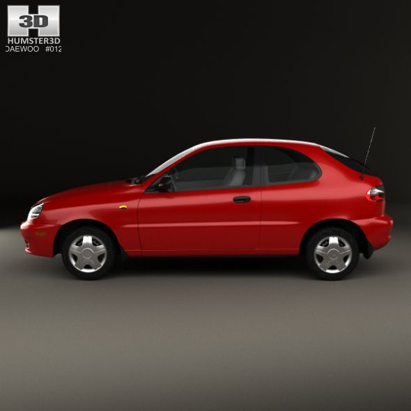 Daewoo Lanos 3 Door 1997 Daewoo 3d Model Car