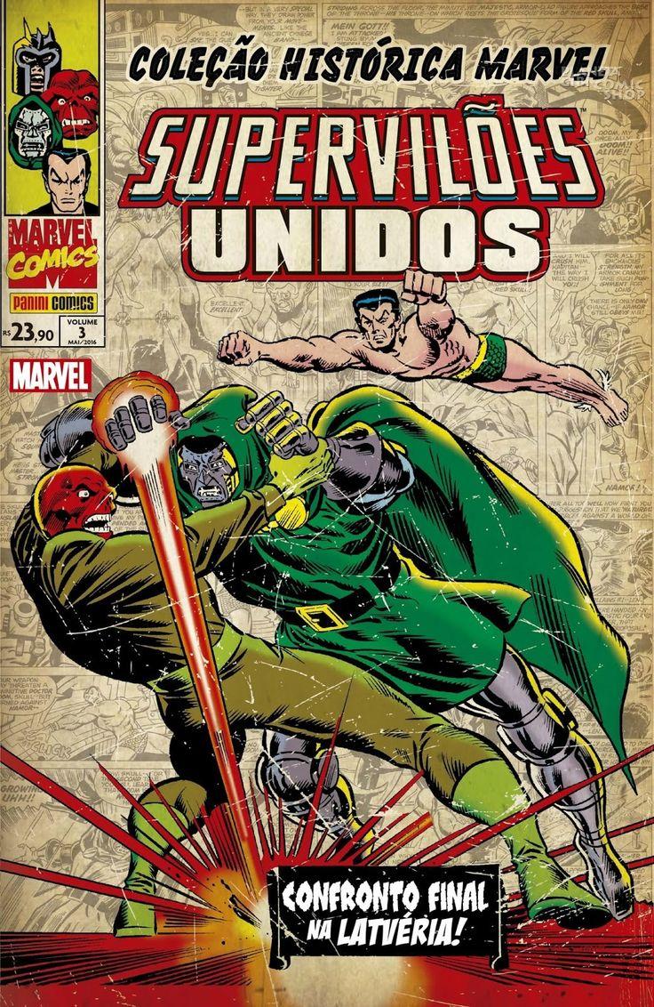 LIGA HQ - COMIC SHOP COLEÇÃO HISTÓRICA MARVEL SUPER VILÕES UNIDOS #3 PARA OS NOSSOS HERÓIS NÃO HÁ DISTÂNCIA!!!
