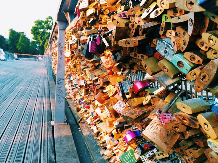 Lock in our love so I know it's real. Pont des Arts in Paris, France.