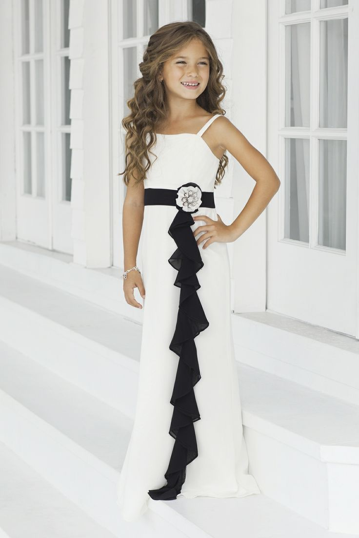 Knitted Black and White Dresses for Juniors