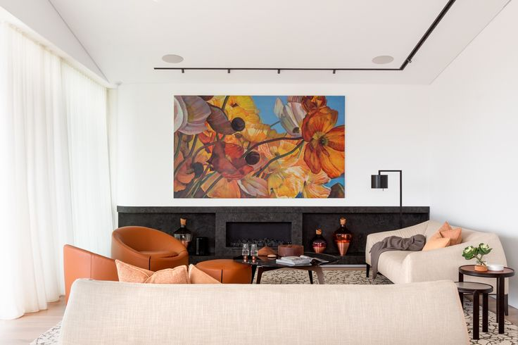 626 best living room images on pinterest living spaces home and architecture - Deco room oranje ...