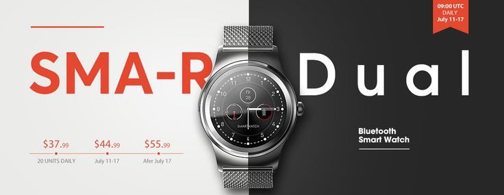 SMA - R Smartwatch, Flash Deal from Gearbest  @  $37.99