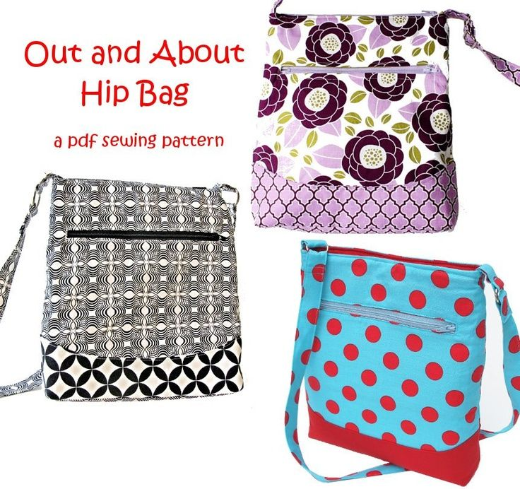 Free Printable Purse Patterns | Free Printable Sewing Patterns | Out and About Zipper Bag a pdf sewing ...
