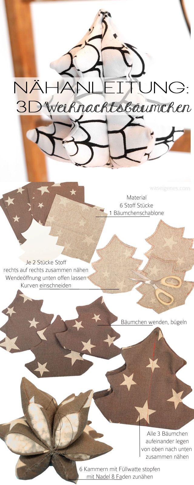 Nähanleitung: 3D Weihnachtsbäumchen | christmas crafts & sewing project | DIY |