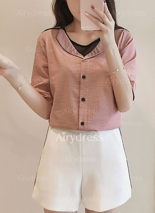 T-shirts - $17.50 - Cotton Solid Collar Half Sleeve Casual T-shirts & Vests (1685137469)