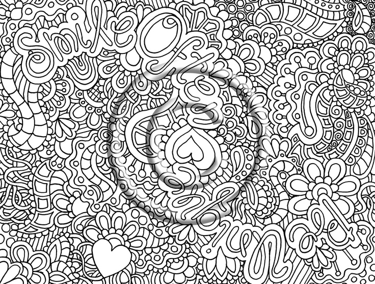 pif pay it foward listing digital download coloring page zentangle inspired psychedelic smile often