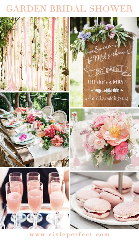 Garden Bridal Shower Inspiration via Aisle Perfect