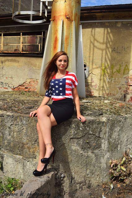Leyraa Blog: 22.08.2015 Bluzka flaga amerykańska z opadającym r...