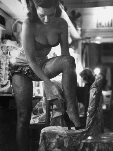 Chorus Girl Singer Linda Lombard, Backstage Getting Ready For Show Photographic Print by George Silk at AllPosters.com
