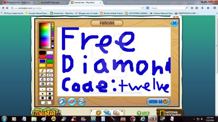 Animal Jam Free Diamond Code by RainbowDash-Rainboom on DeviantArt