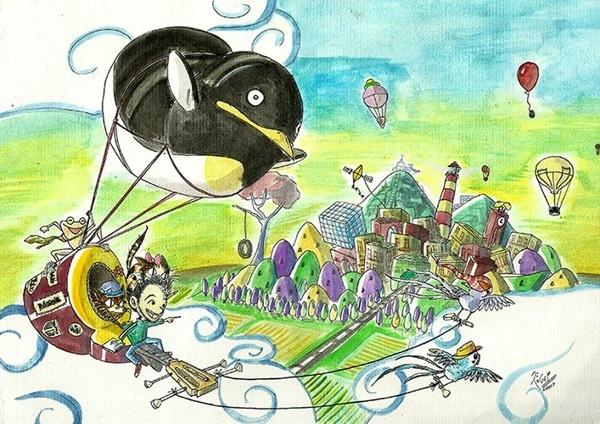 Watercolor Fantasy by Roger Hoyos, via Behance