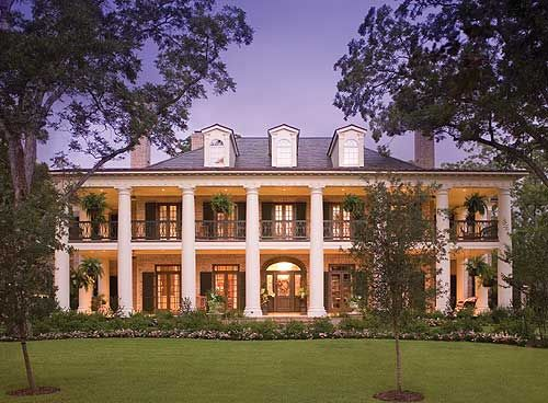 Southern swoon--love the porches, my inner Scarlett is drooling!