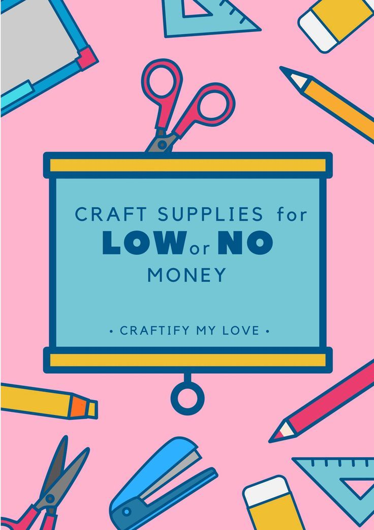 It's super easy to get ahold of craft supplies for just a view dollars or even f…