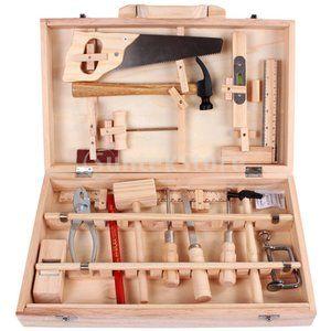 F Fityle Holzspielzeug Kinder Tischler Spielhaus Spielzeug Toolbox Kit