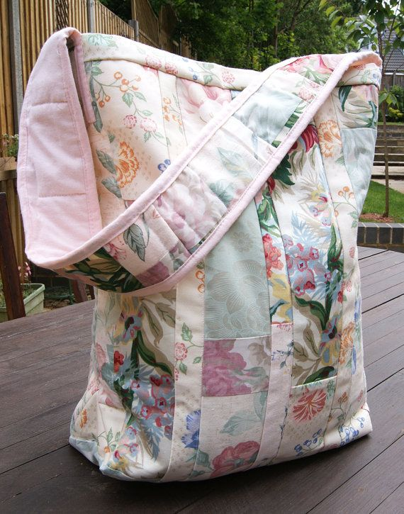 Vintage Floral Patchwork Bag by RagRiches on Etsy