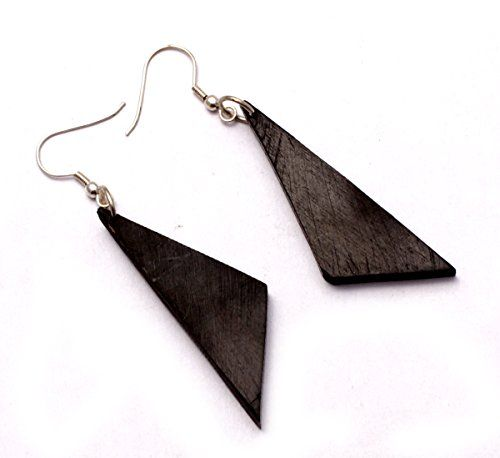 A Pair of Black Earrings Coco Wood Wooden Boho Hippie Danglers Earrings Aisew_750 Krishna Mart India http://www.amazon.com/dp/B010NVSJIU/ref=cm_sw_r_pi_dp_ZR.xwb0YJDX6M