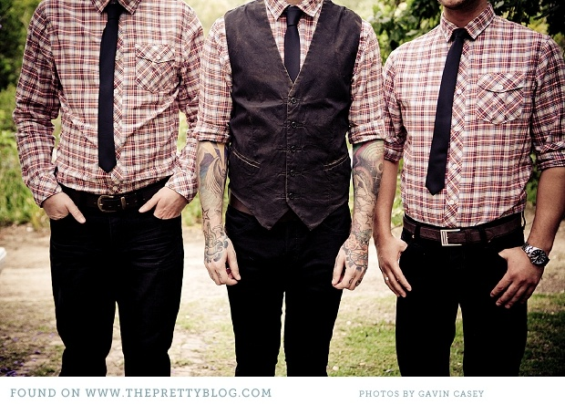 For the Boys? A Compromise between suit and jeans... Plaid, vest, jeans, dress shoes.: Country Weddingg, Gingham Shirts, Check Shirts, White Shirts, Dresses Shoes, Real Wedding, Grooms Plaid, Weddingidea Grooms, Jeans Dresses