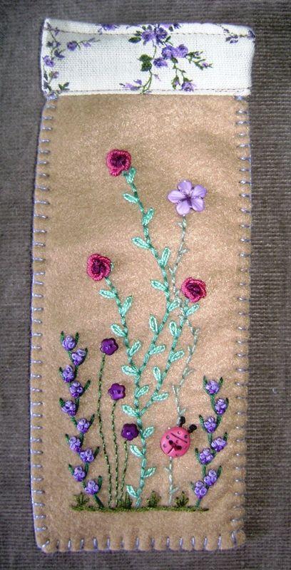 Jardim Bordado: bordado a mão