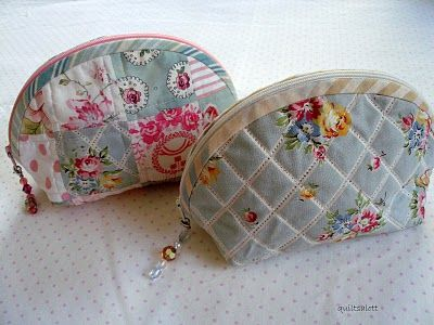 Zippered pouches tutorial
