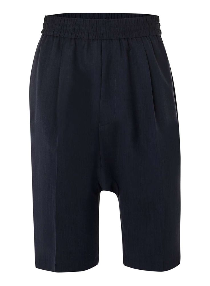 LUX Navy Silk Mix Smart Shorts - Men's Shorts & Swimshorts - Clothing - TOPMAN