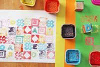 Homemade Stamps and Stamp Pads - Things to Make and Do, Crafts and Activities for Kids - The Crafty Crow