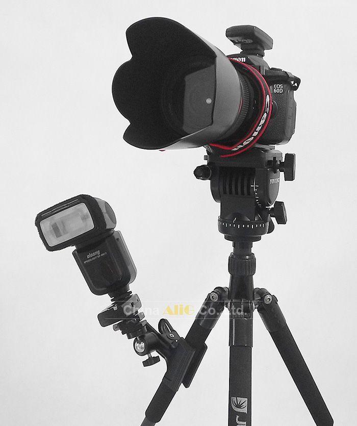Estúdio de fotografia de grampo com adaptador de tripé bola cabeça + suporte de luz do flash sb800 580ex ii 600ex sb910