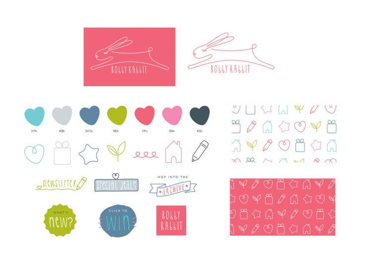 Branding, bobby rabbit, Identity, blog, illustration, design, kids, playful