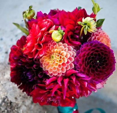Dahlia wedding bouquet :) beautiful