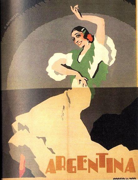 """Maquette de Gustavo Bacarisas para Antonia Mercé """"La Argentina"""" (1925)."""