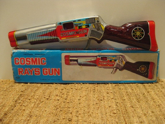 Vintage Tin Toy COSMIC RAYS GUN by ChinaAndOldStuff on Etsy, $65.00