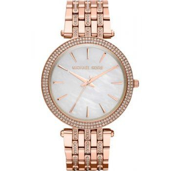 Michael Kors Ladies Rose Gold Stone Set Darci Watch