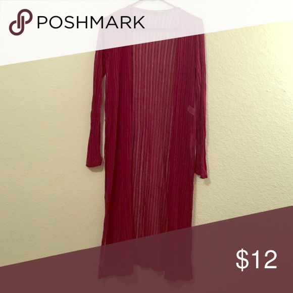 Cardigan Feeling like to wear long cardigan. Then here it is . Stylish maroon cardigan. Cute and classy . Sweaters Cardigans
