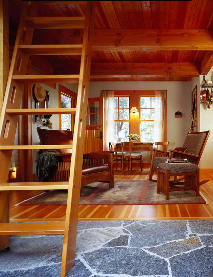 The Orcas Island Cabin Is A 400 Retreat In San Juan Islands Of Washington Designed By Architect David Vandervort All Four Corners Were Notched To