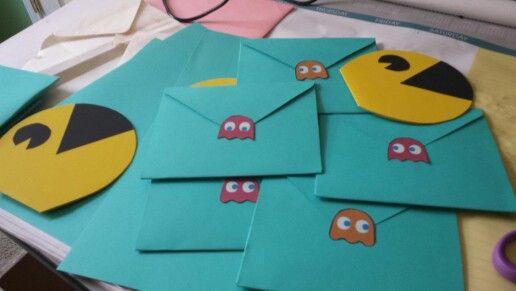 Diy Pacman invitations