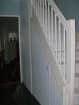 Trapkast onder een rechte trap