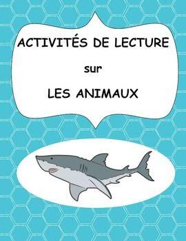 Activités de lecture sur les animaux (Reading Activities f