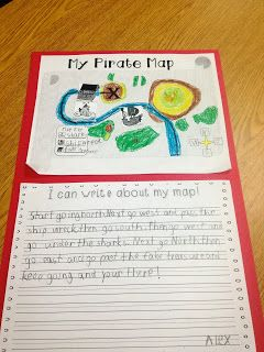 Create your own pirate map. Part of a map unit for first grade. - you could make a map of your school or of your city - include a map key