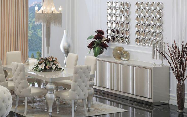 zebrano mobilya yemek odası görselleri 2016