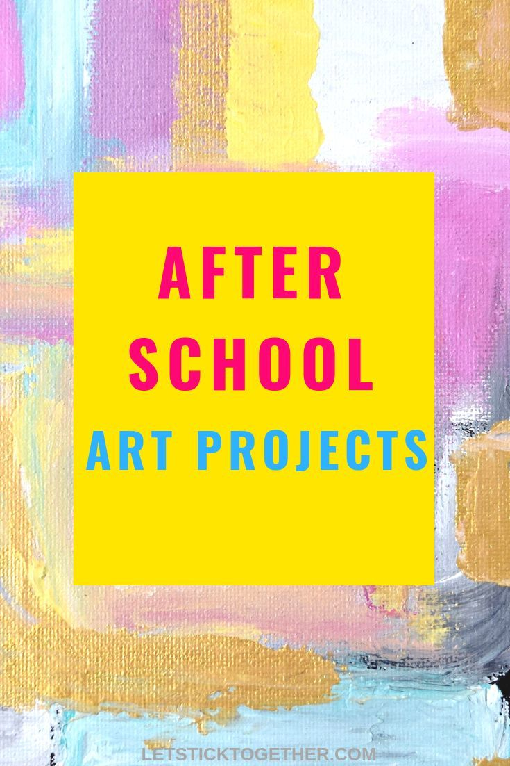 after school art projects | fun creative outlet for kids to do once