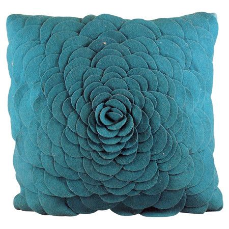 flower on coral pillow decorative wanelo shop pillows decor products damask and accent toss throw best white turquoise