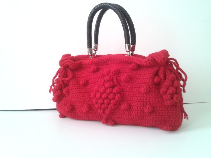 Black Friday EtsyHandmade Red  Knit Bag Celebrity by hibbe on Etsy, $135.00