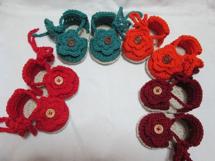 Sandali neonata- Espadrillas neonata/Scarpe uncinetto neonata 0/3  CROCHET BABY SHOES