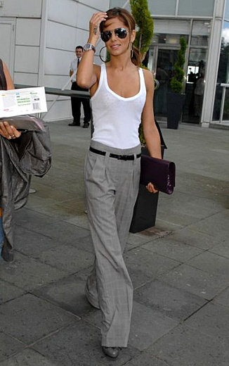 trouser leg pants. love this look
