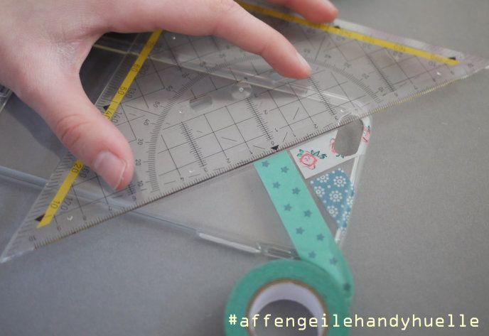 schritt fünf handyhuelle mit washi tape kreieren
