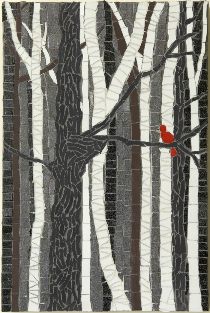 Mosaic: Little Red Bird