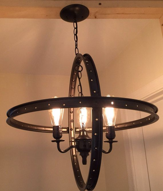 104 best hand made lighting images on pinterest industrial hanging industrial chandelier made from by duckyjoescurios on etsy mozeypictures Image collections
